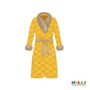 Paltas su kailiu, odos detalėmis (sausas valymas)