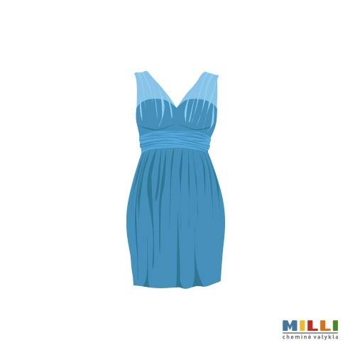 Suknelė šilkinė, klostuota (sausas valymas)
